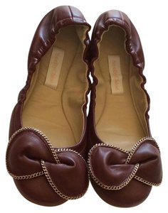 See by Chloé Leather Ballet Burgundy Flats