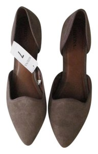 Merona Suede Taupe Grey D'orsay Gray/Taupe Flats