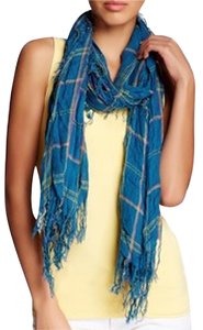Blue Pacific Blue Pacific Cashmere Plaid Scarf NEW