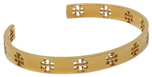 Tory Burch Gold-tone Tory Burch Pierced T perforated cuff bracelet