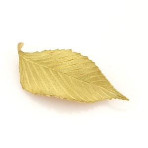 Tiffany & Co. Tiffany & Co. Brushed Finish Leaf Pin Brooch in 18k Yellow Gold