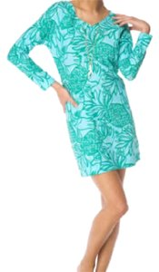 Lilly Pulitzer short dress Blue, Green, White on Tradesy