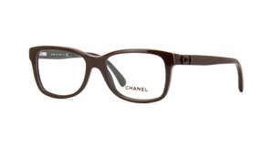 Chanel NEW Rectangular Signature Eyeglasses CH 3311 c. 1501 Dark Brown 52mm