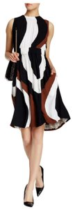 Kate Spade short dress Black White & Brown Work Guest Multi Color Pockets on Tradesy