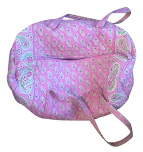 Vera Bradley Large Duffel Travel Paisley Pink Travel Bag