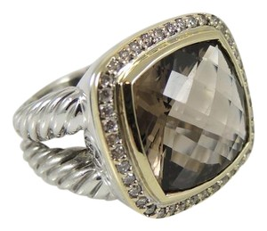 David Yurman David Yurman Sterling Silver 18K Smoky Quartz Diamond Albion Ring