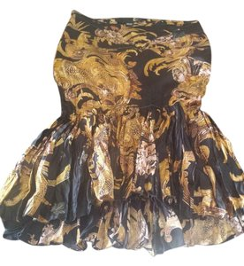 Just Cavalli Skirt black and gold