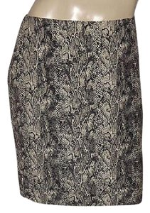 Talbots Business Beige Work Skirt Black & Tan Snakeskin