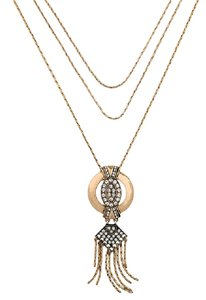 Other Gold crystal deco pendant necklace