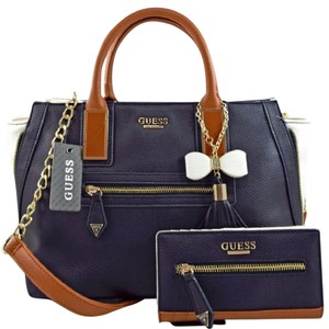 Guess Satchel in Navy Blue