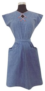 Other short dress Blue Vintage Wrap Coachella on Tradesy