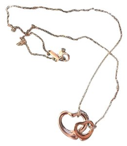 Tiffany & Co. Tiffany & Co. Elsa Peretti Two Open Hearts Necklace.