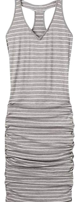Item - Heather Grey and White 983212 Short Casual Dress Size 4 (S)