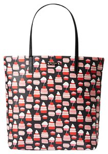 Kate Spade Multicolor Take The Cake Tote Large Tote Multifunction black Travel Bag