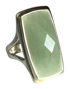 Other Faceted Jade Sterling Silver Ring