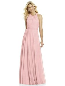 After Six Rose Pink Lux Chiffon 6760 Bridesmaid/Mob Dress Size 14 (L)
