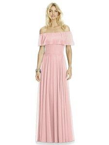 After Six Rose Pink Lux Chiffon 6763 Bridesmaid/Mob Dress Size 16 (XL, Plus 0x)