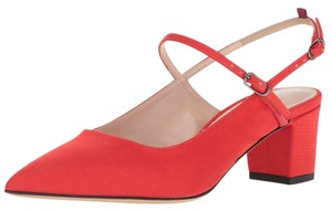 SJP by Sarah Jessica Parker Slingback Pointed Toe Mary Jane Block Heel Poppy Pumps