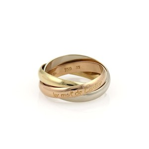 Cartier Cartier Trinity 18k Gold 3.5mm Band Ring Size EU 55-US 7.5 Card