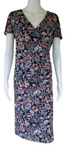 Jones New York short dress Multi-color Floral Slinky Pull-on Stretch on Tradesy
