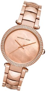 Michael Kors 100% NEW Ladys Michael Kors Parker Crystallized Rose Gold Watch MK6426