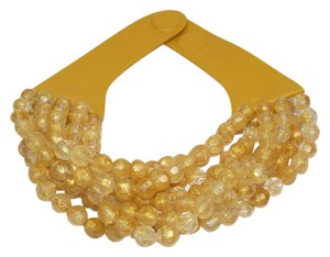 FAIRCHILD BALDWIN FAIRCHILD BALDWIN New York Bella Leather Gold Beaded Collar NECKLACE