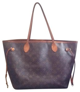Louis Vuitton Neverfull Mm Gm Pm Monogram Tote in Brown