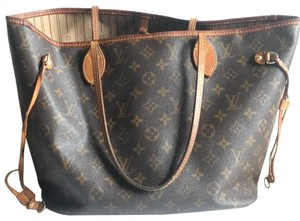 Louis Vuitton Neverfull Mm Gm Pm Tote in Brown Monogram