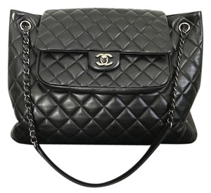 Chanel Lambskin Cc Turnlock Flap Tote in Leather