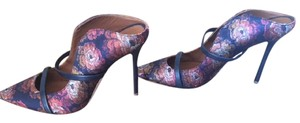 Malone Souliers Embroidered Night Out High Heel Black, navy, red, organge, silver brocade Pumps