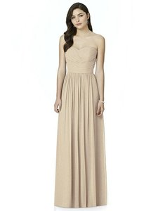 Dessy Cameo Gold Lux Chiffon Shimmer 2991 Bridesmaid/Mob Dress Size 10 (M)