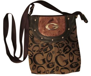 Guess Canvas Adjustable Strap Cross Body Bag