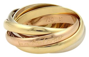 Cartier Cartier Trinity 18k Gold 5 Rolling Band Ring Size EU 51-US 5.75