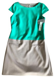 Eliza J short dress Green top/gray bottom on Tradesy