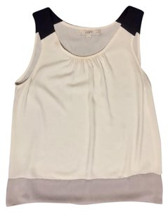 Ann Taylor LOFT Top Black, White, Tan