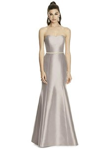 Alfred Sung Taupe Sateen Twill D742 Bridesmaid/Mob Dress Size 10 (M)