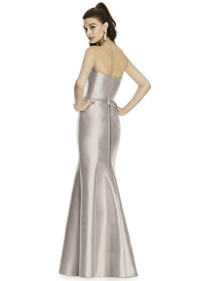 987338cdcf8 Alfred Sung Taupe Sateen Twill D742 Bridesmaid Mob Dress Size 10 (M) Image.  12345