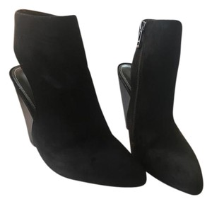 Charles by Charles David Cut-out Suede Wedge Black Boots