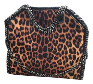 Stella McCartney Chain Falabella Tote in Leopard