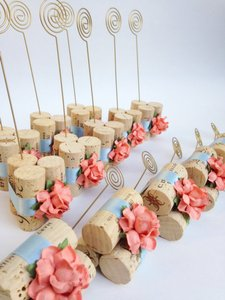 Lavender Wine Cork Table Number Holders (6-count)
