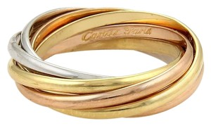 Cartier Cartier 18k Gold Trinity Rolling 7 Bands Ring 2mm Size EU 52-US 6