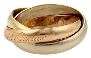 Cartier Cartier Trinity 18k Gold 3.5mm Rolling Band Ring Size EU 53-US 6.5