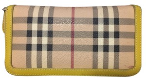 Burberry Burberry Yellow Haymarket Wallet