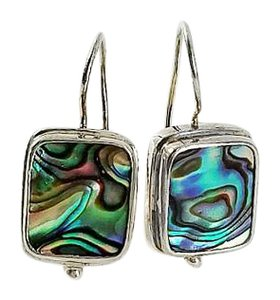 Other Square Abalone Sterling Earrings