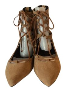 Jeffrey Campbell New Box Leather Ballet Inspired Beige (Camel) Suede-New In Box! Flats