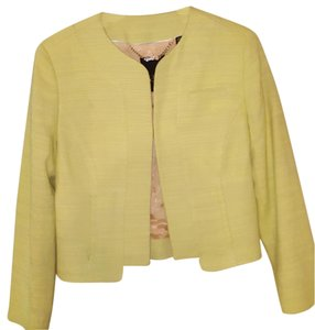 Ted Baker Neon yellow woven undertones. Funky statement blazer with jeans and a white tee. Blazer