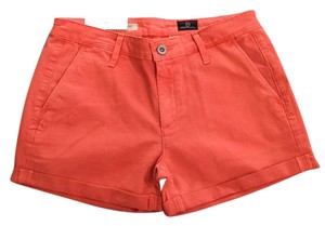 AG Adriano Goldschmied Cuffed Shorts Salmon/light red