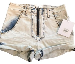 One Teaspoon Cuffed Shorts Classic Chambray