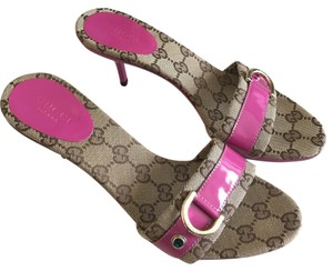 Gucci Brown/Fuchsia Pink Sandals