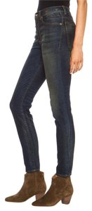 R13 Dark Wash High Rise Skinny Skinny Jeans-Dark Rinse